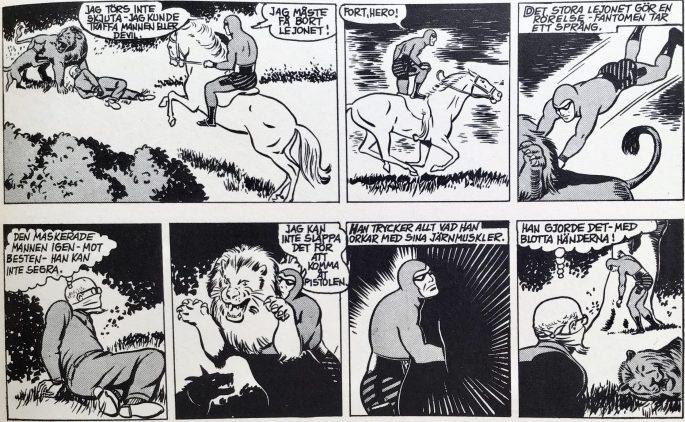 Ett par dagsstrippar från 4-5 juli 1955, tecknad av Wilson McCoy, ur Comics nr 2. ©Bulls