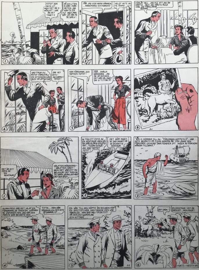 En sida med Mandrake ur Serie-Pressen nr 8, 1972. ©Bulls