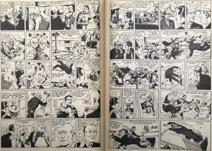 Ett uppslag med Mandrake ur Serie-Pressen nr 18, 1972. ©Bulls