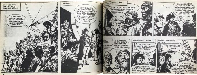 Ett uppslag med serien Två hårda nävar, ur Veckans serier, nr 28, 1972. ©IPC
