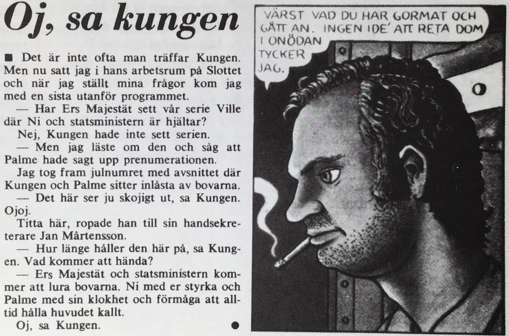 Intervju med kungen, i tidningen Vi (1976). ©Vi