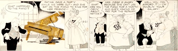 Original till en dagsstripp av Vernon Greene, från 21 maj 1958. ©KFS