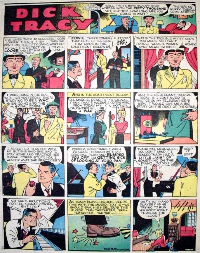 Den mellanliggande söndagssidan i original från 9 januari 1944, som saknades i Comics. ©CTS