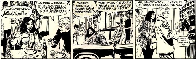 Original till en av dagsstripparna ovan, från 6 januari 1971. ©CTS