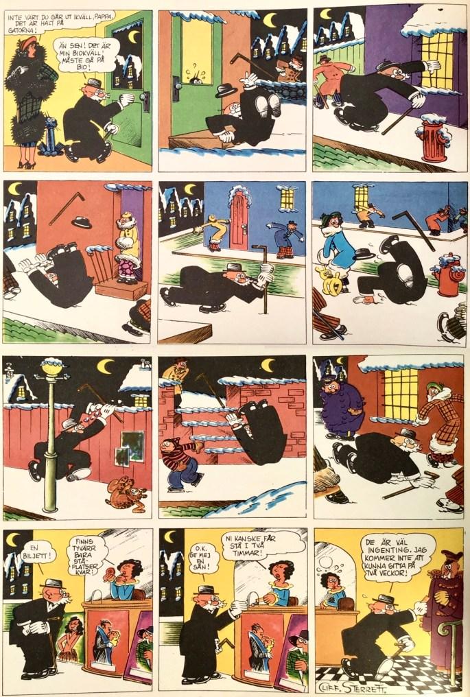 En söndagssida med Pär och Polly, ur Comics nr 3. ©Bulls