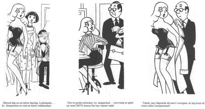 Några skämtteckningar med Lullubelle från 1957-58. ©PIB