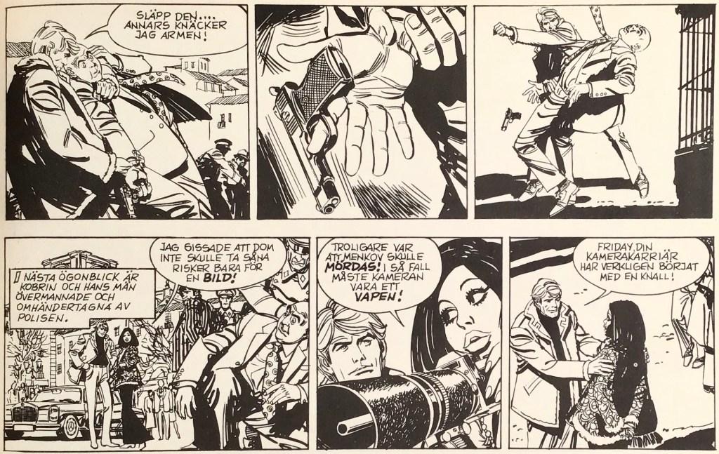 Ett par seriestrippar med Friday Foster ur Comics nr 2. ©PIB