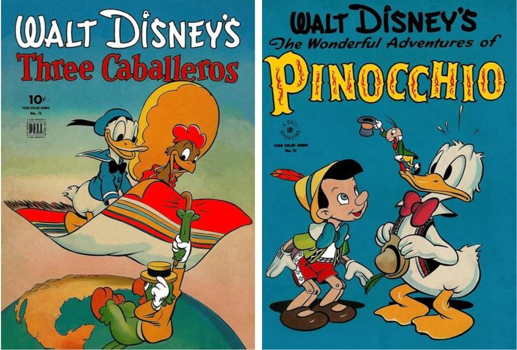 Omslag till Four Color Comic #71 och #92. ©Dell