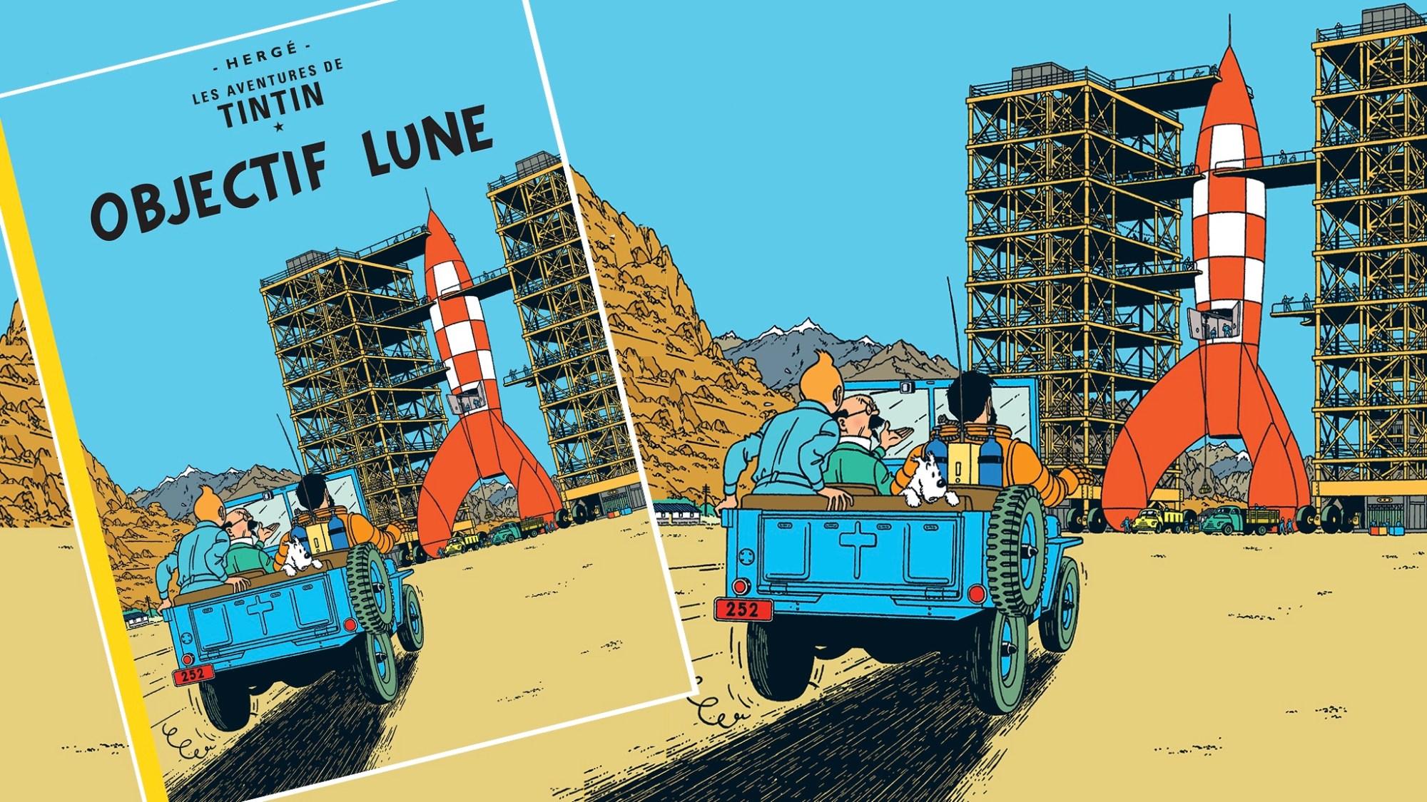 Månen tur och retur, med Tintin, del 1