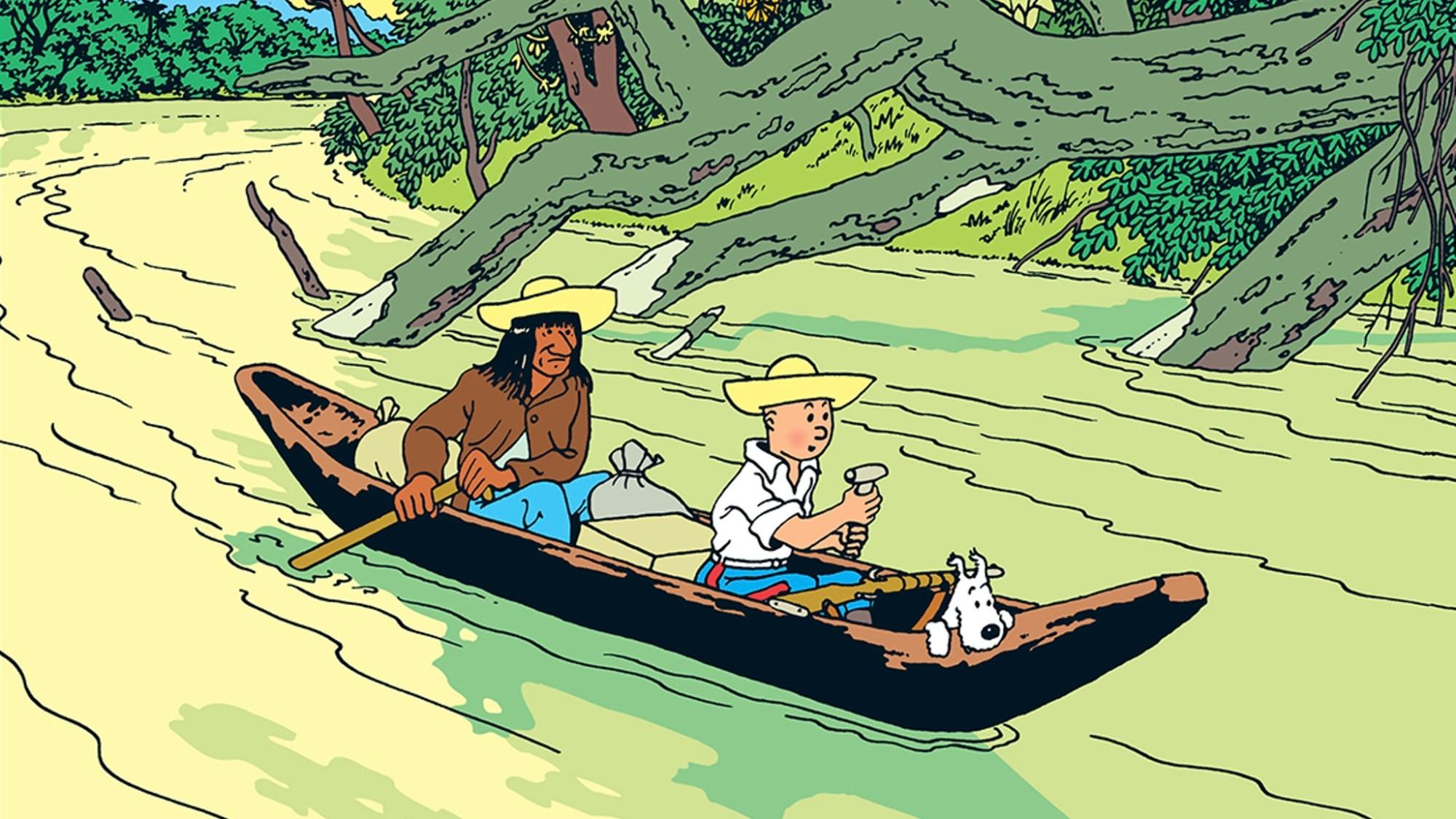 Det sönderslagna örat, med Tintin