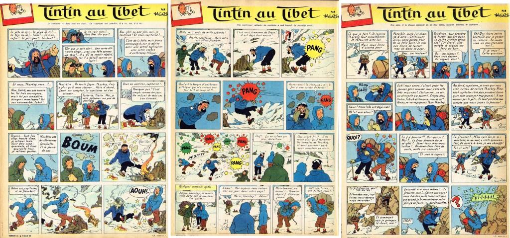 Sidorna 37-39 ur Le Journal de Tintin. ©Hergé-Moulinsart