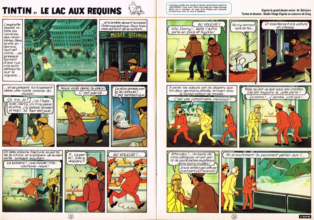 Det första uppslaget ur Le Journal de Tintin. ©Hergé-Moulinsart