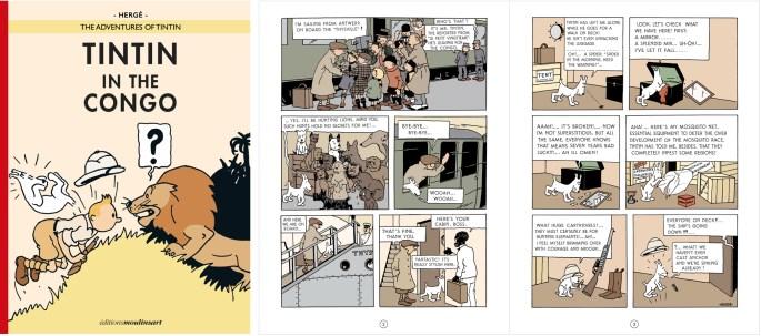 Sedan 2019 finns en ny färglagd digital version tillgänglig på engelska m.fl. språk. ©Hergé-Moulinsart