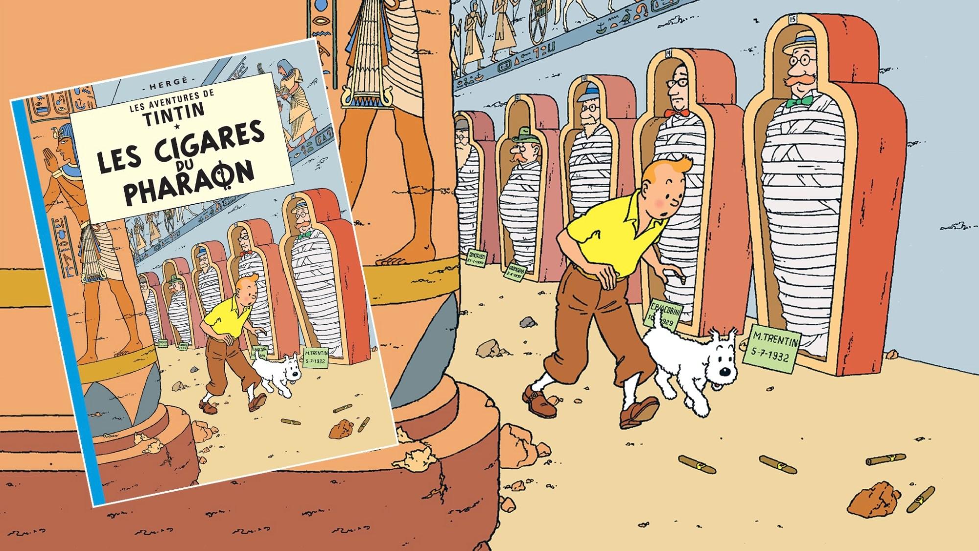 Faraos cigarrer med Tintin