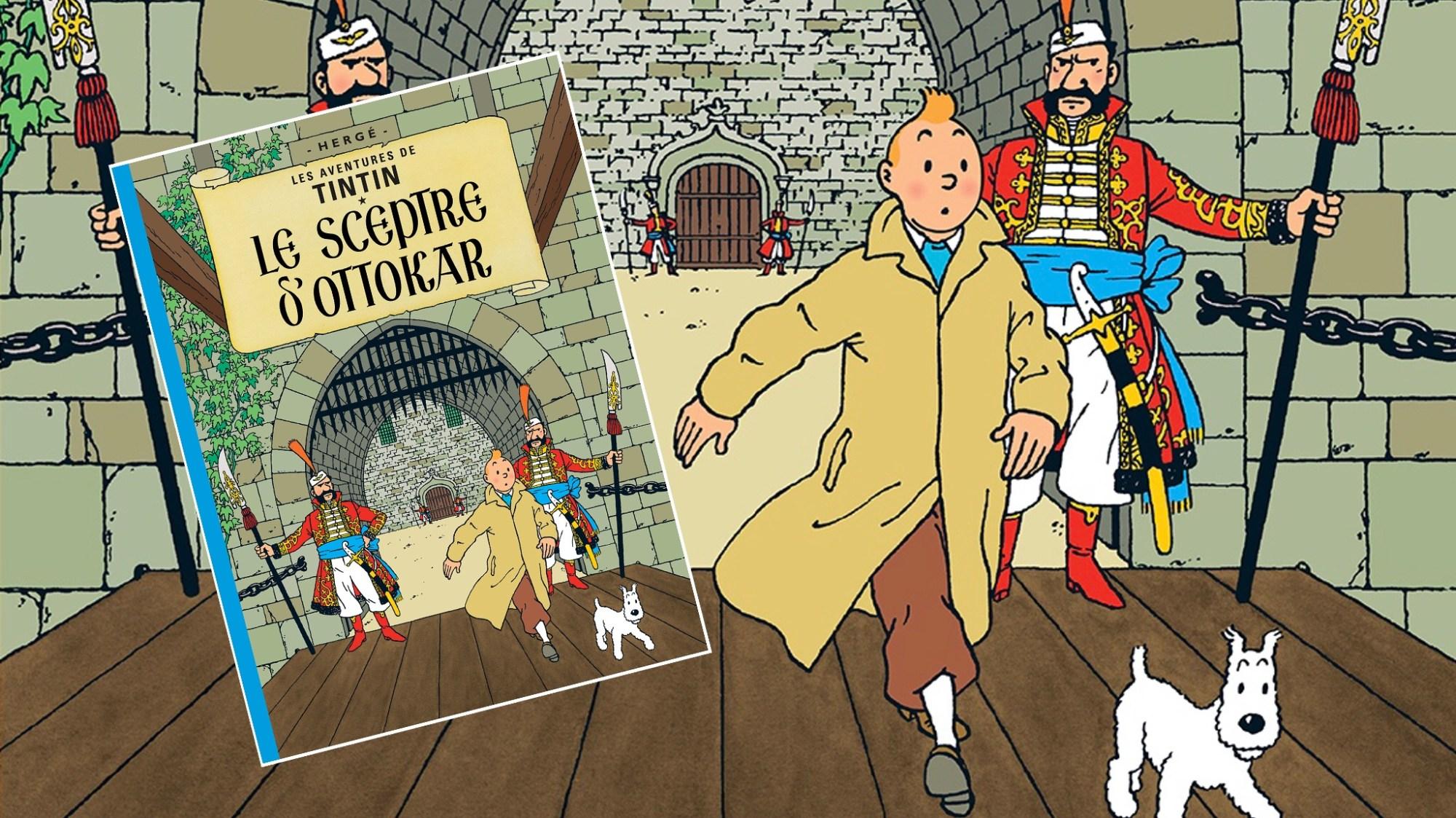 Ottokars spira, med Tintin