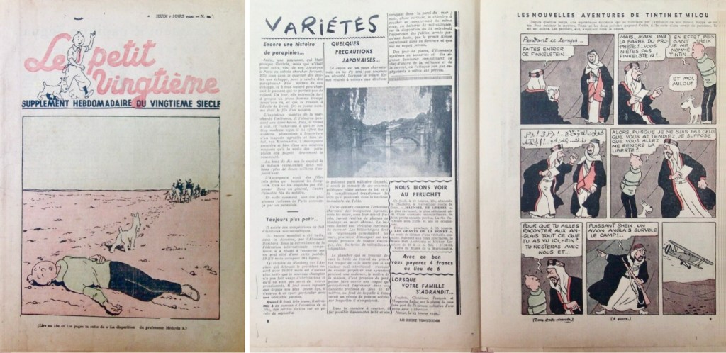 Le Petit Vingtième N. 10 från 7 mars 1940. Episoden med Det svarta guldet var i full gång. ©Le XXe Siècle/Hergé-Moulinsart