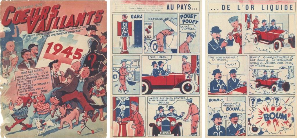 Message aux Coeurs Vaillants N. 1 från 01 juni 1945. ©Cœurs Vaillants/Hergé-Moulinsart