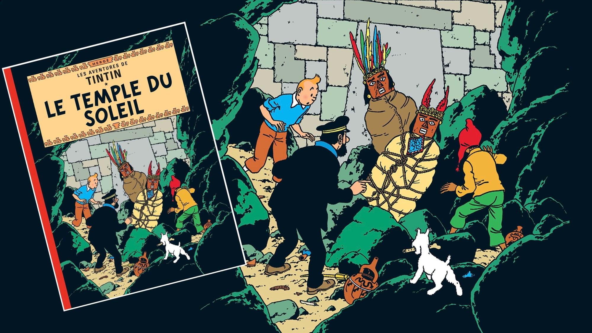 Solens tempel, med Tintin