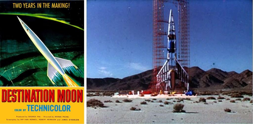 Affisch och stillbild ur filmen Destination moon (1950). ©Eagle-Lion