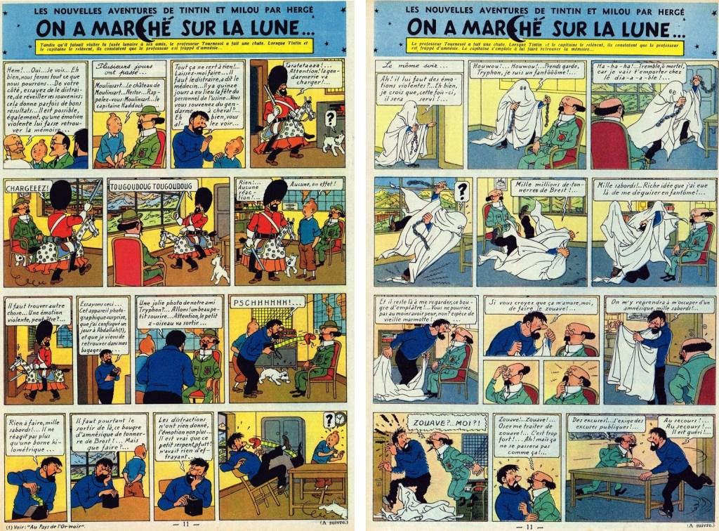 Införande nr 44-45 i Le Journal de Tintin. ©Hergé-Moulinsart