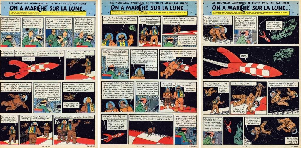 Införande nr 62-64 i Le Journal de Tintin. ©Hergé-Moulinsart