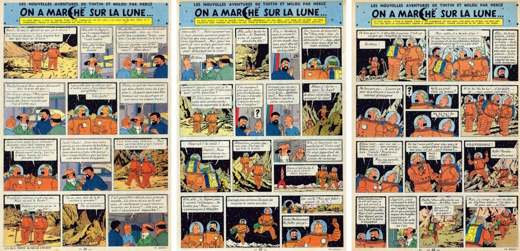 Införande nr 84-86 i Le Journal de Tintin. ©Hergé-Moulinsart