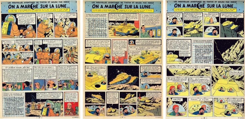 Införande nr 87-89 i Le Journal de Tintin. ©Hergé-Moulinsart