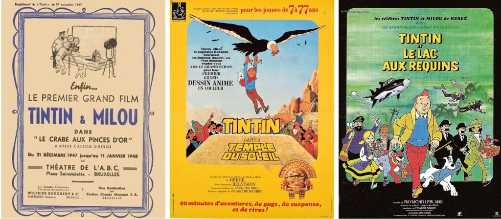 Filaffischer till animerade filmer med serien från 1947, 1969 och 1972. ©Bouchery/Belvision
