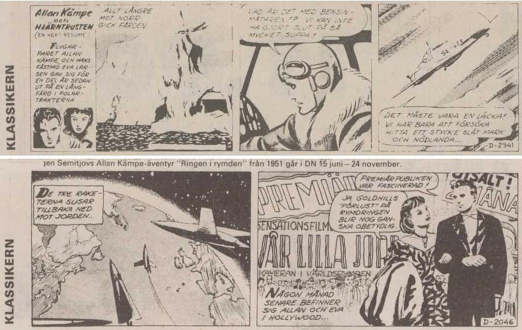 Den 15 juni 1990 inledde DN-Klassikern sin publicering av Allan Kämpe. Den 24 november 1990 blev sista strippen publicerad. ©Semitjov