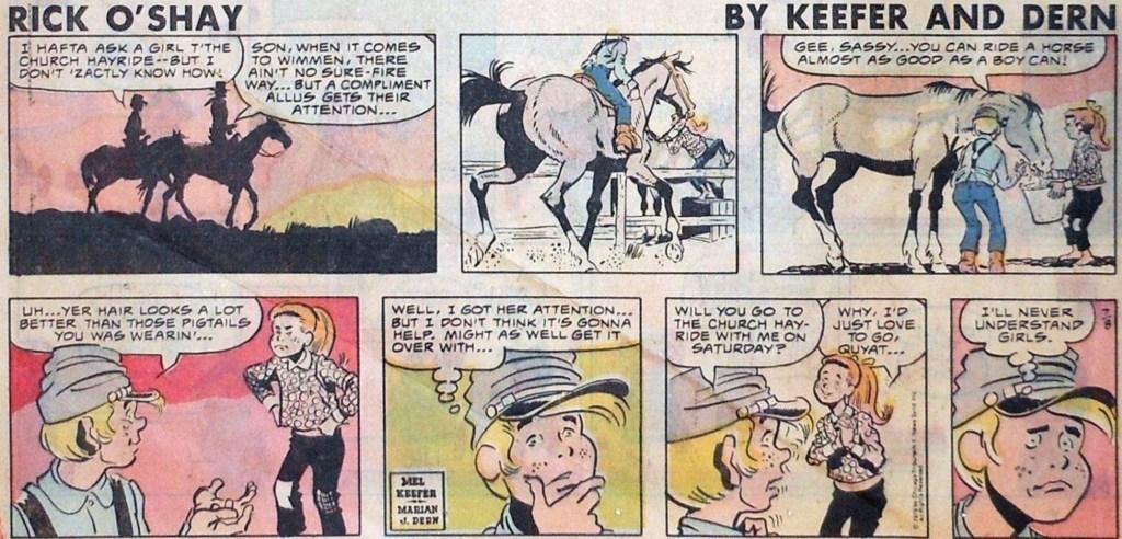 En söndagsstripp av Dern och Keefer, från 8 juli 1979. ©CTNS