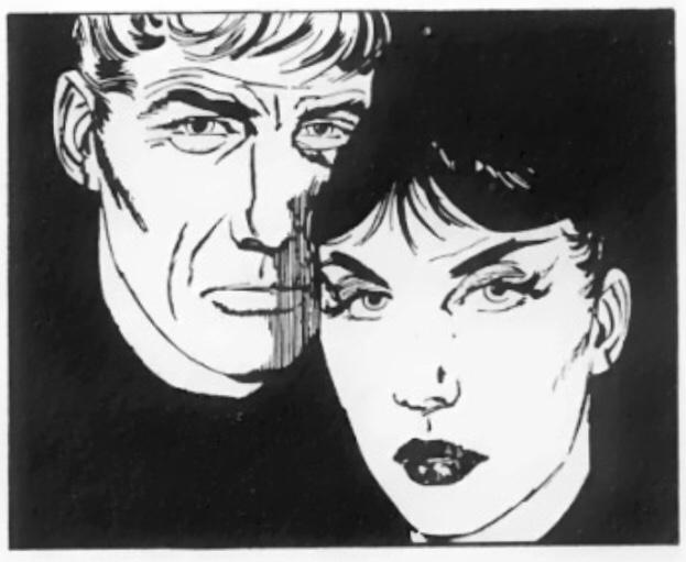Modesty Blaise och Willie Garvin - oskiljaktiga vapendragare. ©Evening Standard