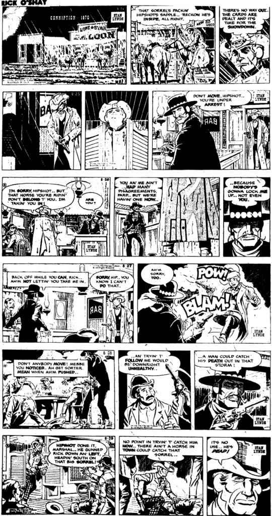 Motsvarande strippar i original från 24-29 augusti 1970. ©CTS