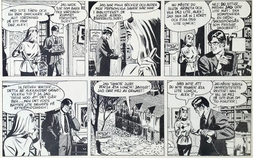 Ett par dagsstrippar med Rex Morton ur Comics nr 4. ©Europa Press