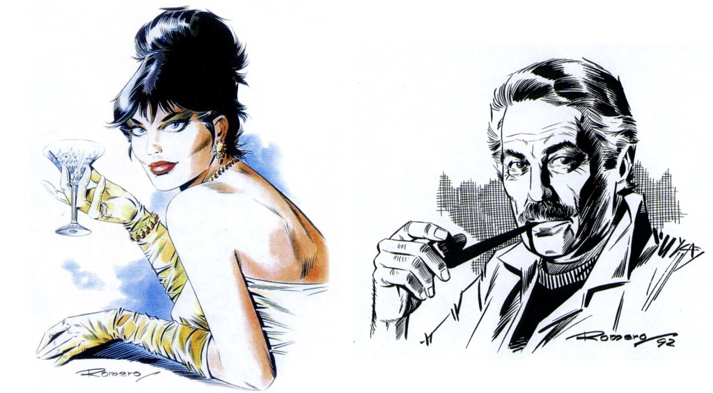 Enrique Romero och hans version av Modesty Blaise.