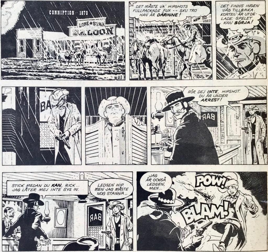 De inledande dagsstripparna ur Comics nr 4. ©PIB/CTS