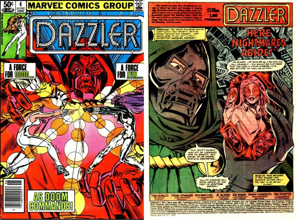Omslag och inledande sida Till Dazzler #4. ©Marvel