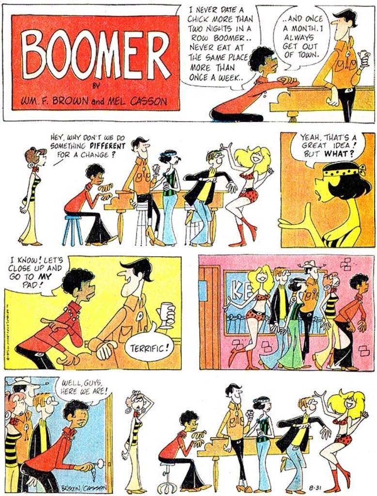 En söndagsstripp med Boomer från 31 augusti 1975. ©UFS