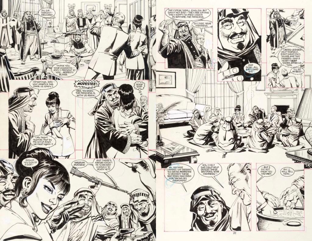 Original till sid 30-31 ur serieboken. ©D.C.