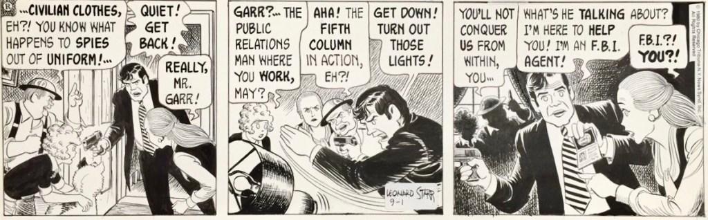 Original till en dagsstripp med På Scenen: Mary Perkins från 1 september 1980. ©CTNYNS