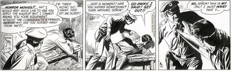 Original till motsvarande dagsstripp från 20 november 1968. ©CTS