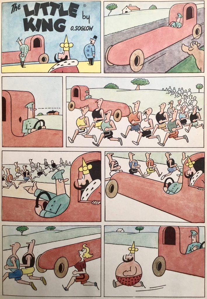 En sida med Lille kungen ur Comics nr 4. ©Bulls/KFS