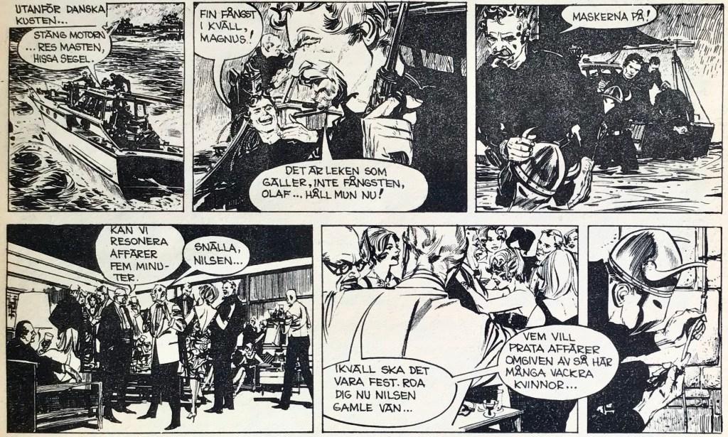 Inledningen av äventyret Vikingarna, ur Comics nr 5. ©Bulls
