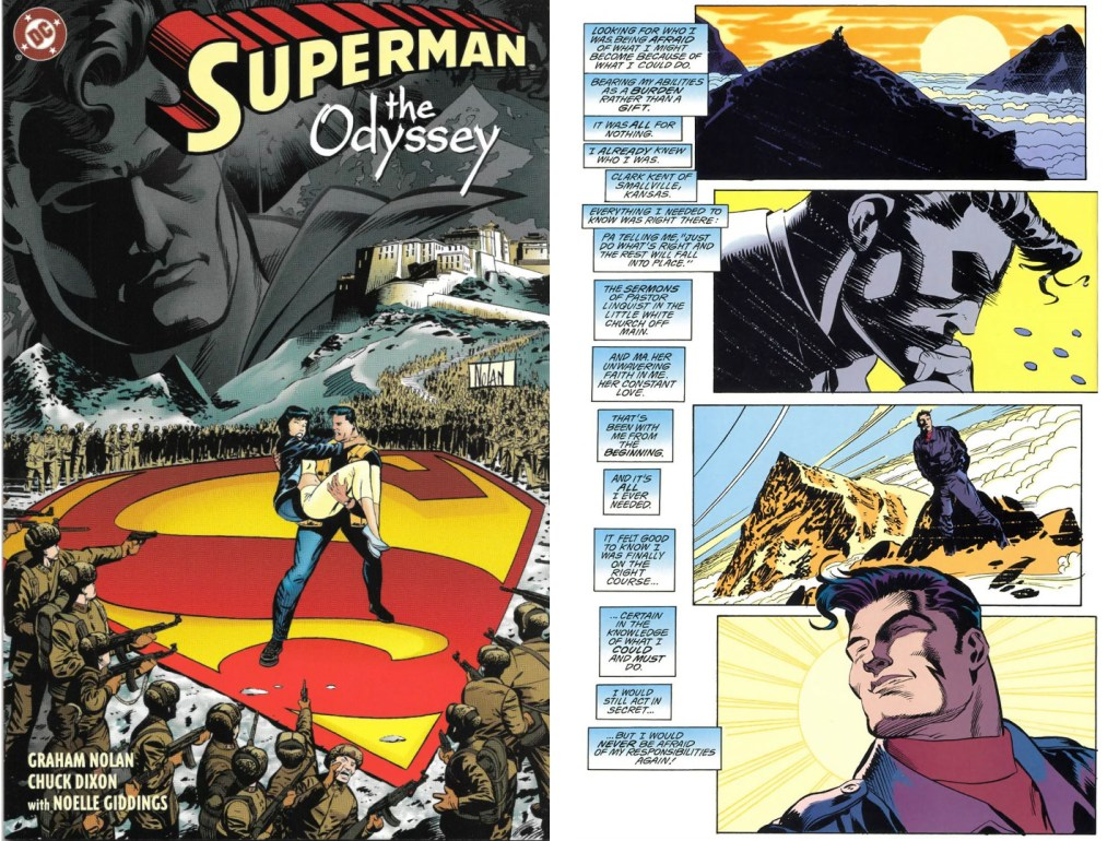 Omslag och en sida ur Superman: The Odyssey. ©DC Comics