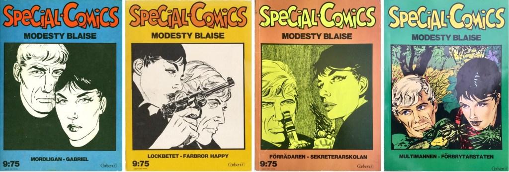 Omslag till Special-Comics nr 2, 5, 7 och 10. ©Carlsen