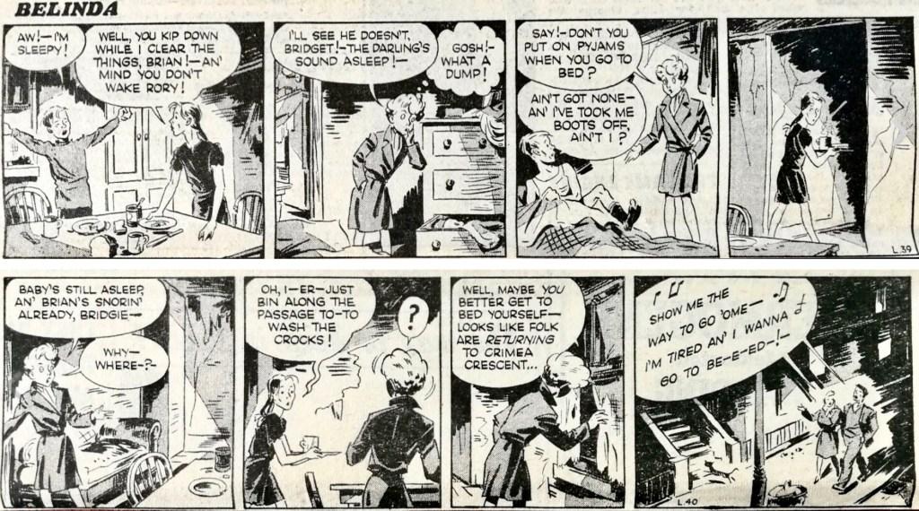 Ett par dagsstrippar med Belinda (1952). ©Daily Mirror