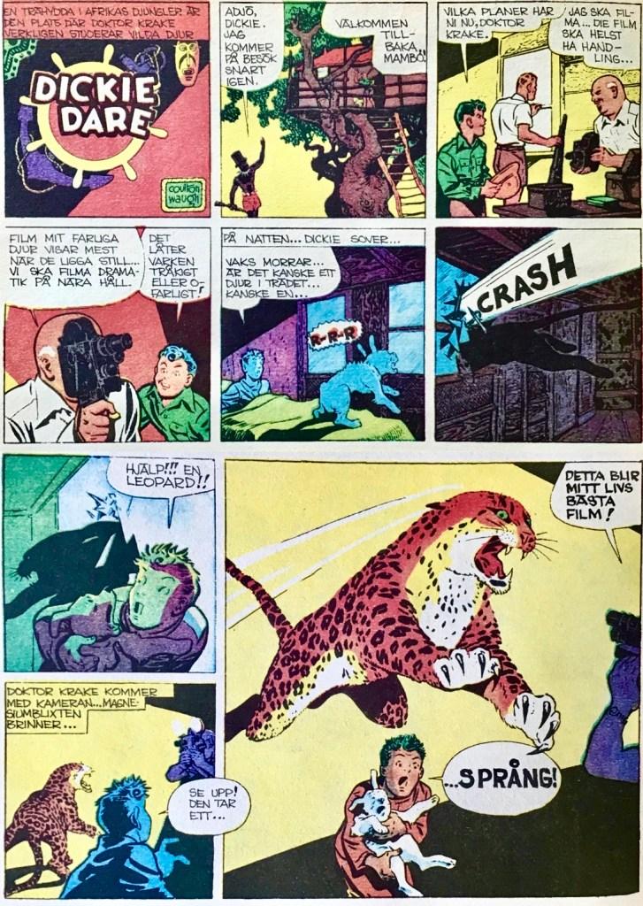 En söndagssida med Dickie Dare, ur Comics nr 5. ©AP
