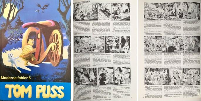 Omslag och inledande sidor av episoden Pokus resebyrå, ur Moderna fabler 5. ©Alvglans/STA