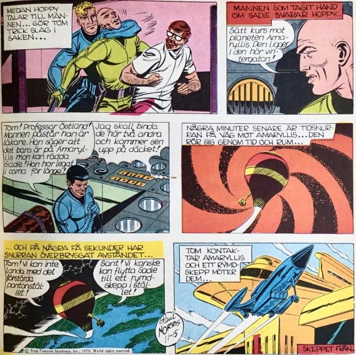 En söndagsstripp 15 november 1970 från ur Comics nr 6. ©Bulls