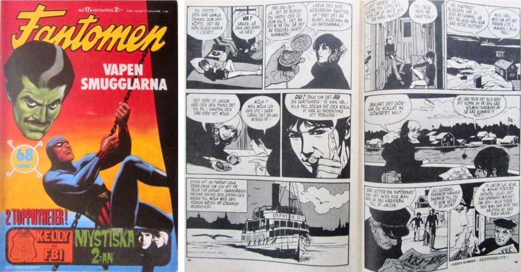 Mystiska 2:an var en ny serie i Fantomen nr 17, 1972. ©Semic/Gohs