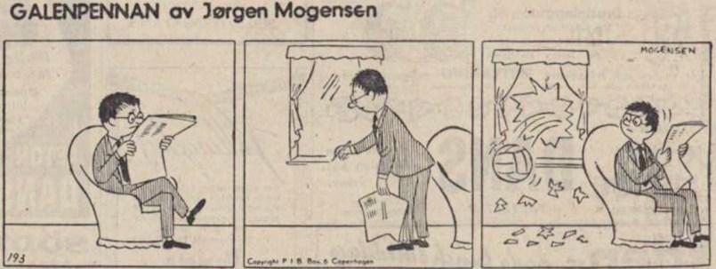 En stripp ur DN från 5 mars 1956. ©PIB